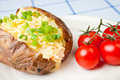 Hot and crispy baked potato Stock Images