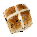 Hot Cross Bun Isolated Stock Photos