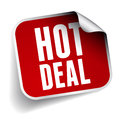 Hot deal label isolated Stock Photography