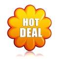 Hot deal orange flower label Stock Image