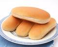 Hot dog buns some made of wheat flour Stock Photos