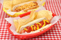 Hot Dog and Chili Cheese with Potato Chips Royalty Free Stock Photo