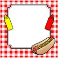 Hot Dog Cookout Invite Royalty Free Stock Photo