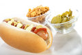 Hot dog fresh on a white background Royalty Free Stock Images