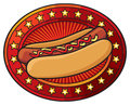 Hot dog illustration icon Stock Photo