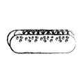 Hot dog isolated icon