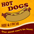 Hot dog poster vintage retro background vector illustration Royalty Free Stock Image
