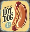 Hot Dog Retro Tin Sign Royalty Free Stock Photo