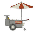 Hot dog stand booth on white background Stock Photography