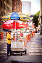 Hot Dog stand in New York Royalty Free Stock Photo
