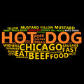 Hot Dog Text Cloud Royalty Free Stock Photos
