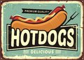 Hot dogs vintage tin sign idea