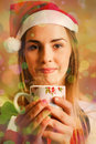 Hot drinks at Christmas Royalty Free Stock Photo