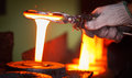 Hot forging production line steel Royalty Free Stock Photo