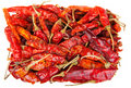Hot frame from dry chili pepper Royalty Free Stock Image