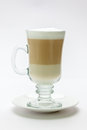 Hot frappe latte coffee Royalty Free Stock Image