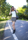 Hot girl walking Royalty Free Stock Photo