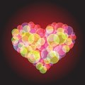 Hot heart colorful illustration with for your design Stock Photo
