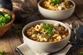 Hot Homemade White Bean Chicken Chili Royalty Free Stock Photo