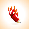 A hot idea of education pencil Royalty Free Stock Photo