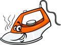 Hot iron cartoon illustration Royalty Free Stock Photo