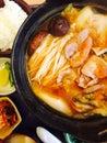 Hot kimchi japanese food restaurant Royalty Free Stock Photo