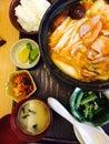 Hot kimchi japanese food restaurant Royalty Free Stock Photography