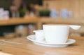 Hot latte coffee