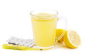 Hot lemon home remedy