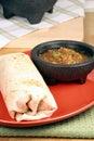 Hot mexican burrito Stock Photography