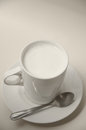 Hot milk cup for good healthy Stock Photo