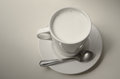 Hot milk cup for good healthy Royalty Free Stock Photography