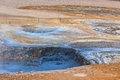 Hot mud pots in the geothermal area hverir iceland horizontal shot Stock Image
