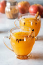 Hot Mulled Cinnamon Spiced Apple Cider Royalty Free Stock Photo