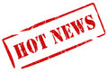 Hot news stamp Stock Image
