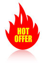Hot offer icon Stock Photo