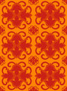 Hot orange seamless pattern Royalty Free Stock Images