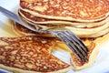 Hot pancakes Stock Image