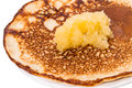 Hot pancakes honey russian shrovetide Royalty Free Stock Photography