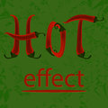 Hot pepper effect for you design Stock Photos