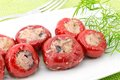 Hot peppers stuffed with tuna Royalty Free Stock Photo