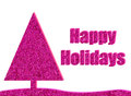Hot pink glitter christmas background card with Stock Photography