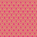 Hot Pink & Green vintage Paisley damask wallpaper Stock Images