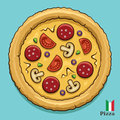Hot pizza illustration of a tasty Royalty Free Stock Images