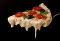 Hot pizza slice Royalty Free Stock Photo