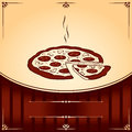 Hot Pizza. Vector Illustration with place for text Stock Image