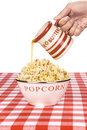 Hot popcorn with butter Royalty Free Stock Images