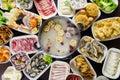 Hot pot meals Royalty Free Stock Photo