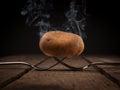 Hot potato on forks Royalty Free Stock Photo