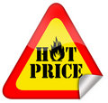 Hot price offer Stock Images
